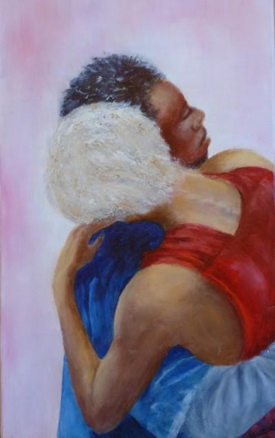 emmène-moi - huile sur toile de Muguett - (27x46)