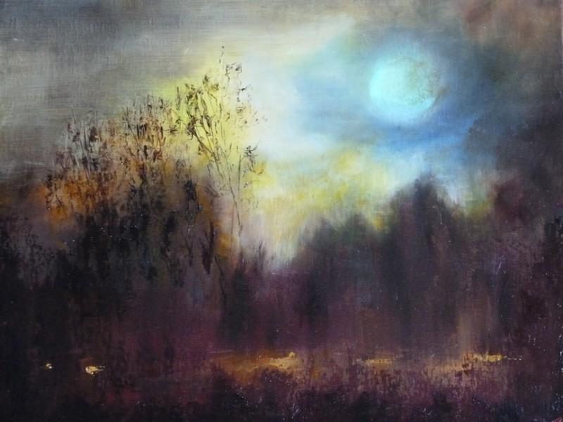 Impression de Nuit, huile de Muguett