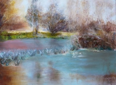 Petit Matin d'Hiver - Huile sur toile de Muguett - (55x38)