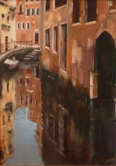 Venise - huile sur toile de Muguett