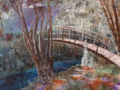 D'une Rive à l'Autre - huile sur toile de Muguett