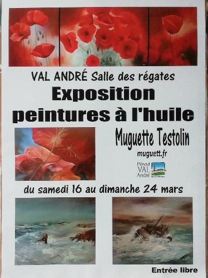 Exposition Pléneuf-Val André Salle des Régates - Muguett