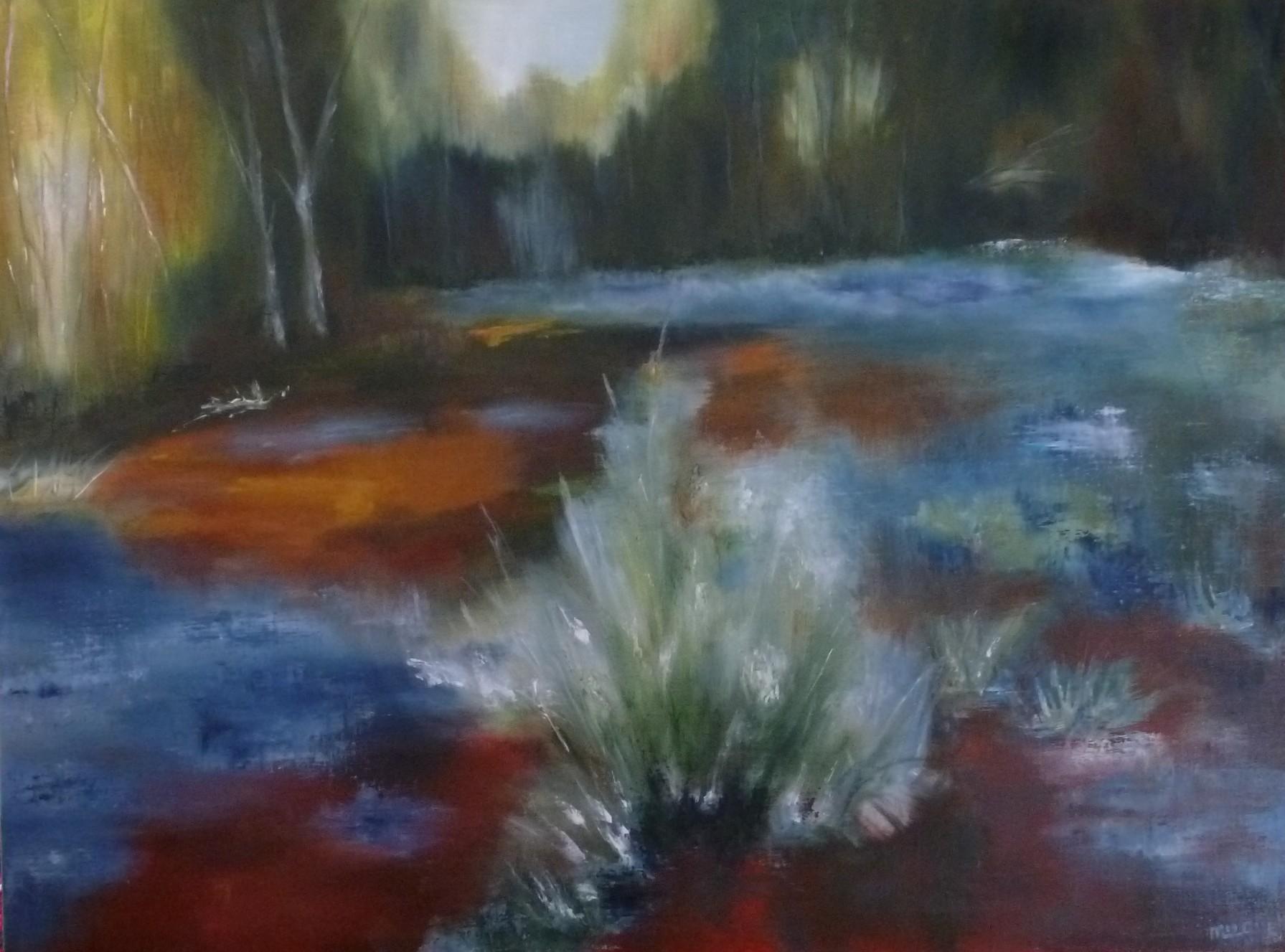 Dans la forêt de Fontainebleau, près de Bourron-Marlotte, une mare où dansaient les fées, la nuit tombée. Un lieu magique.