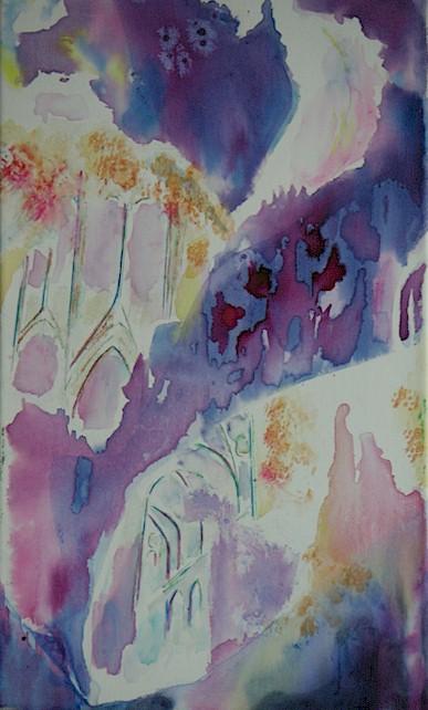 La Cathédrale Engloutie, encre de Chine et aquarelle de Muguett