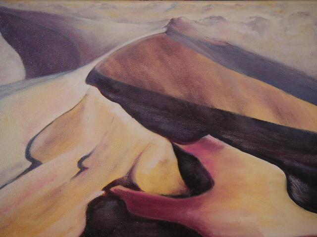 Dunes, huile sur toile de Muguett