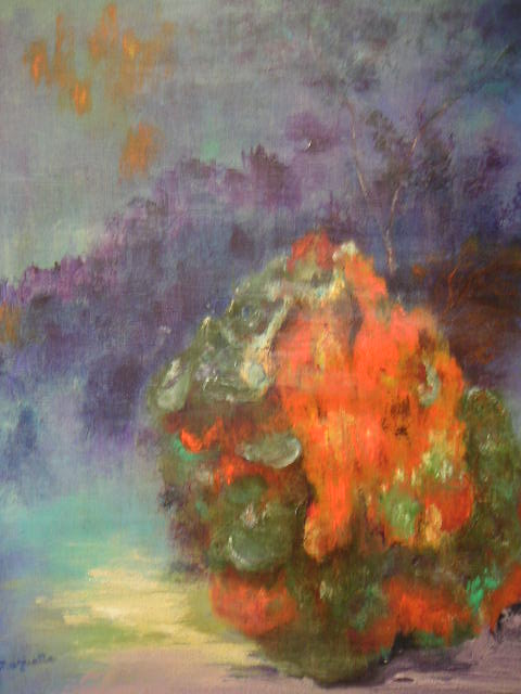 Fond Marin, huile sur toile de Muguett