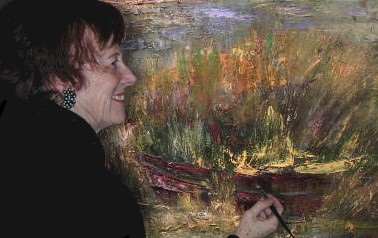 Muguett peint dans son atelier